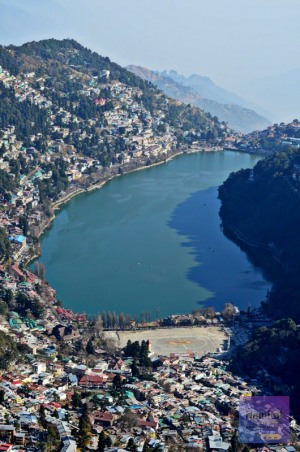 Nainital, View from China Peak.