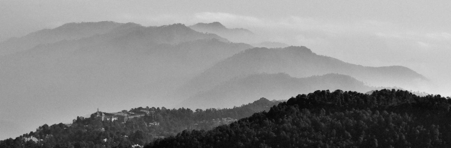 Nainital from cliffs