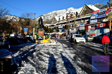 Nainital in Snow