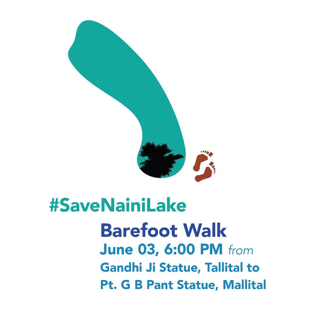 Barefoot walk to save nainital
