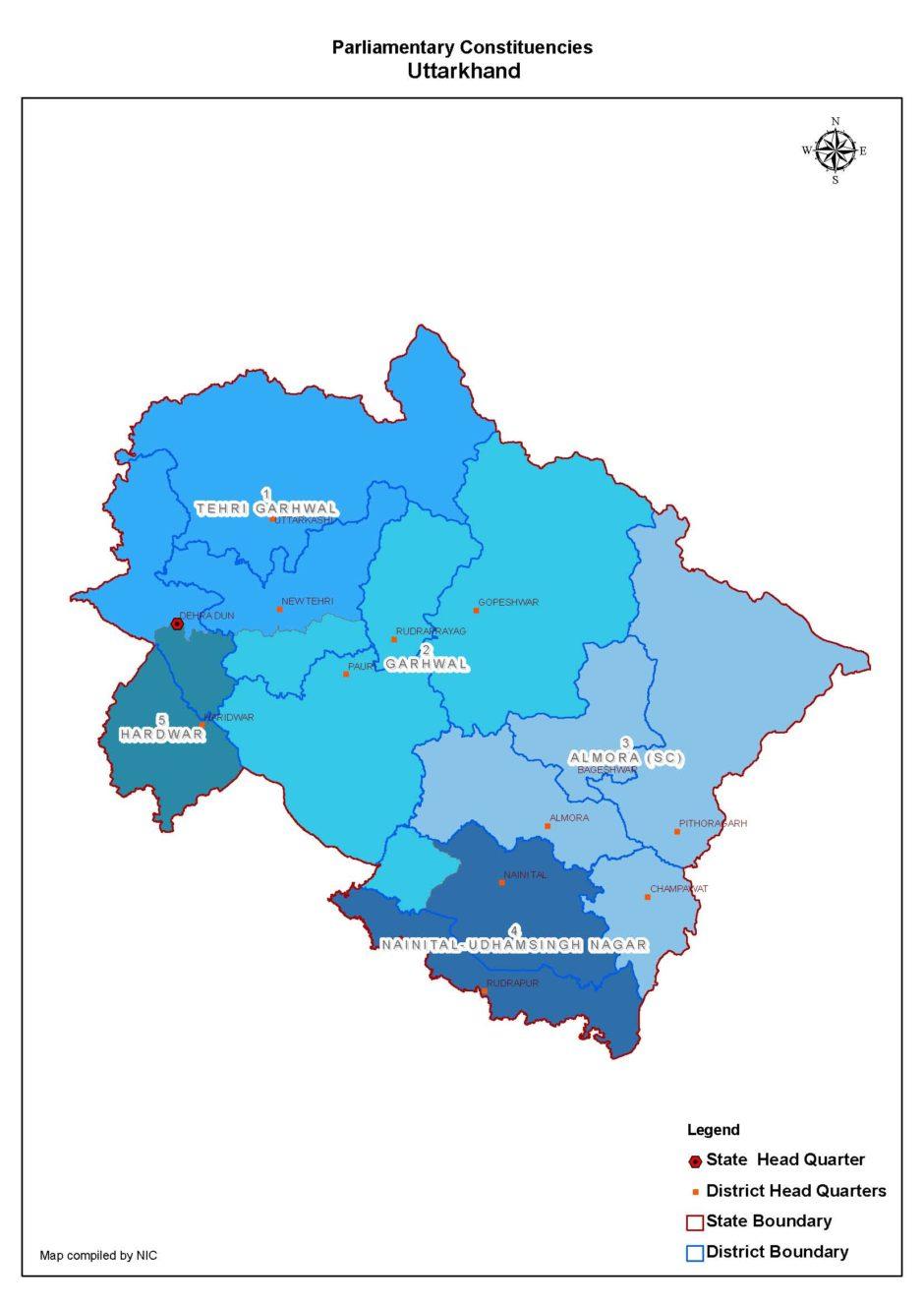 Indian general election in Uttarakhand – 2019